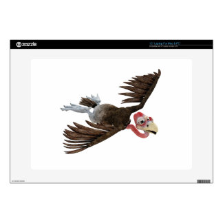 Cartoon Buzzard Flying Seen from Above Skins For Laptops