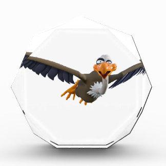 Cartoon Buzzard Flying Seen from Below Acrylic Award