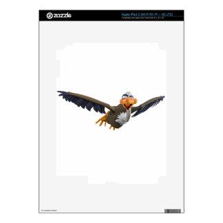 Cartoon Buzzard Flying Seen from Below iPad 3 Skin