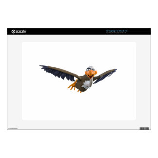 Cartoon Buzzard Flying Seen from Below Laptop Skins