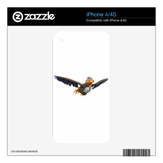 Cartoon Buzzard Flying Seen from Below Skins For The iPhone 4S