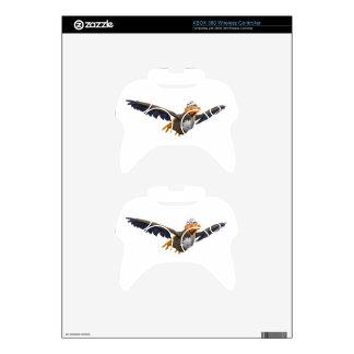 Cartoon Buzzard Flying Seen from Below Xbox 360 Controller Decal