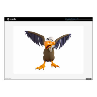"""Cartoon Buzzard Walking with His Wings Up Skin For 15"""" Laptop"""