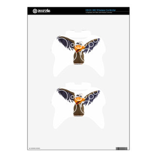 Cartoon Buzzard Walking with His Wings Up Xbox 360 Controller Decal