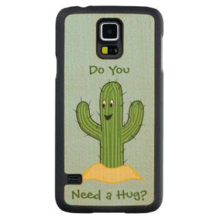 Cartoon Cactus Guy (Do You Need A Hug?) Carved® Maple Galaxy S5 Slim Case