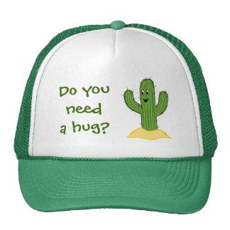 Cartoon Cactus Guy (Do You Need A Hug?) Trucker Hat
