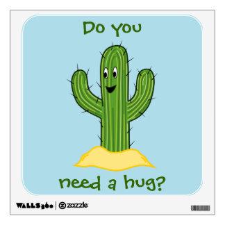 Cartoon Cactus Guy (Do You Need A Hug?) Wall Sticker