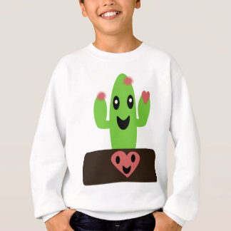 Cartoon Cactus Sweatshirt