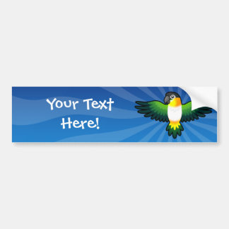 Cartoon Caique / Lovebird / Pionus / Parrot Bumper Sticker