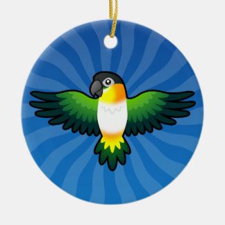 Cartoon Caique / Lovebird / Pionus / Parrot Ceramic Ornament