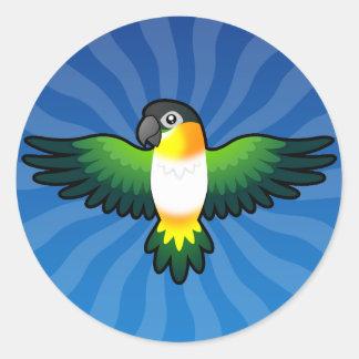 Cartoon Caique / Lovebird / Pionus / Parrot Classic Round Sticker