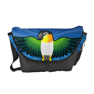 Cartoon Caique / Lovebird / Pionus / Parrot Courier Bag