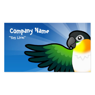 Cartoon Caique / Lovebird / Pionus / Parrot Double-Sided Standard Business Cards (Pack Of 100)