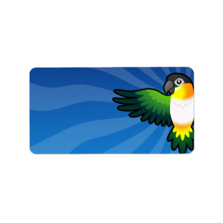 Cartoon Caique / Lovebird / Pionus / Parrot Address Label