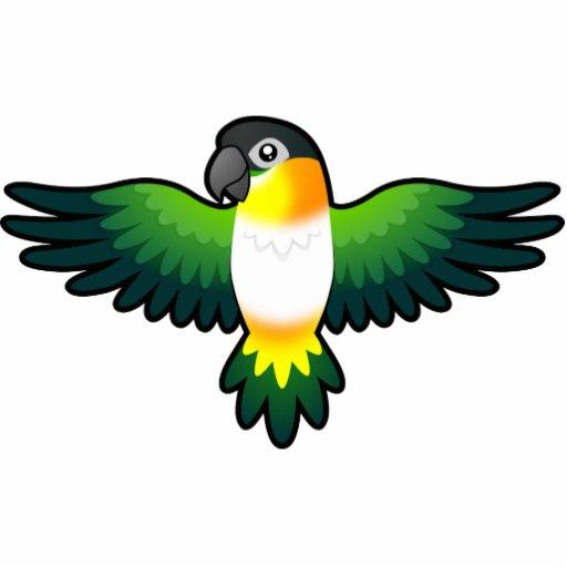Cartoon Caique Lovebird Pionus Parrot Acrylic Cut