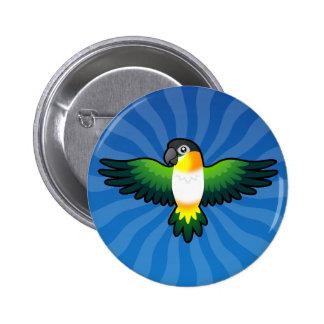 Cartoon Caique / Lovebird / Pionus / Parrot Pinback Button