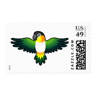 Cartoon Caique / Lovebird / Pionus / Parrot Postage Stamp