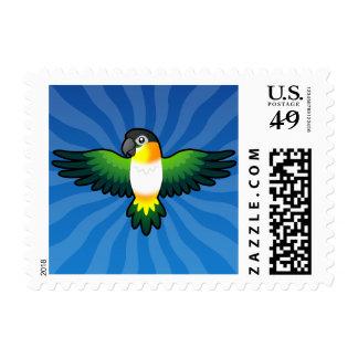 Cartoon Caique / Lovebird / Pionus / Parrot Stamp