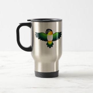 Cartoon Caique / Lovebird / Pionus / Parrot Travel Mug