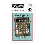 Cartoon Calculator Custom Postage Stamps