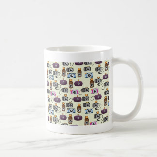 Cartoon camera pattern coffee mug