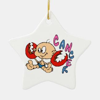 Cartoon Cancer Ceramic Ornament