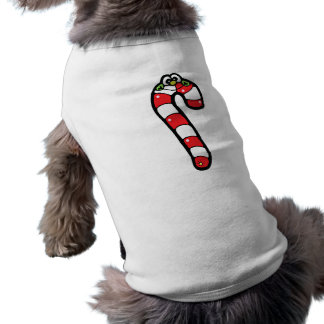 Cartoon Candy Cane with Smiling Face Shirt