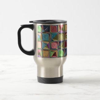 Cartoon Candydrops Mosaic Tile Art Travel Mug