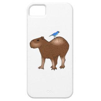 Cartoon Capybara with Blue Bird on Its Back iPhone 5/5S Case