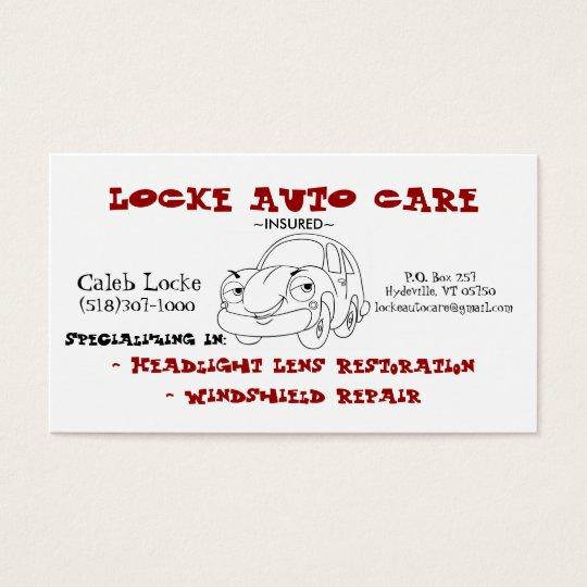 cartoon car business card