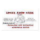 cartoon car business card templates