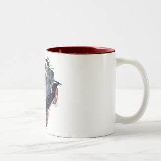 cartoon car Two-Tone coffee mug