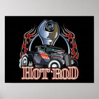 Cartoon car poster
