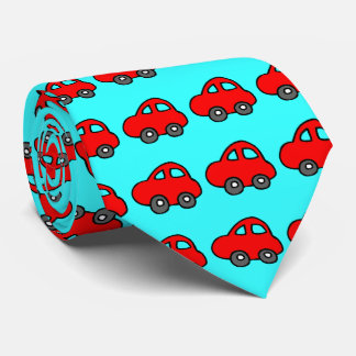 cartoon car red blue tie  color change background