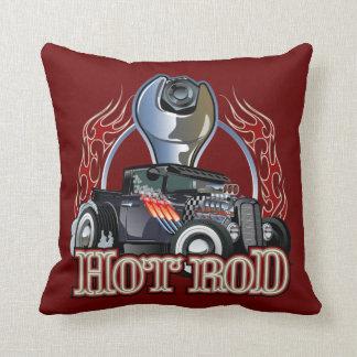 Cartoon car throw pillow