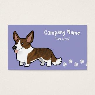 Cartoon Cardigan Welsh Corgi Business Card