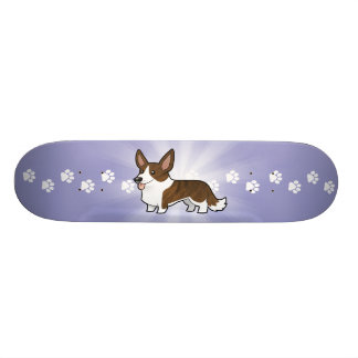 Cartoon Cardigan Welsh Corgi Skateboard