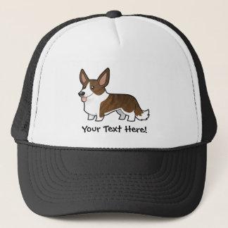Cartoon Cardigan Welsh Corgi Trucker Hat