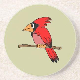 Cartoon Cardinal coaster