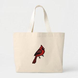 Cartoon Cardinal Design Canvas Bag