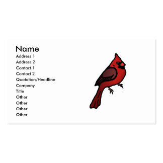 Cartoon Cardinal Design Double-Sided Standard Business Cards (Pack Of 100)