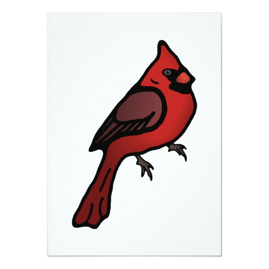 Cartoon Cardinal Design Card