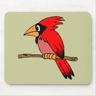 Cartoon Cardinal Mouse Pad