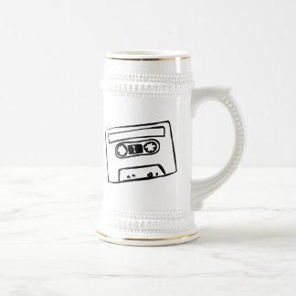 Cartoon Cassette Tape 18 Oz Beer Stein
