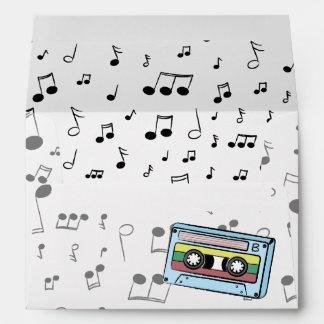Cartoon Cassette Tape & Music Notes -Mix It Up A&B Envelope