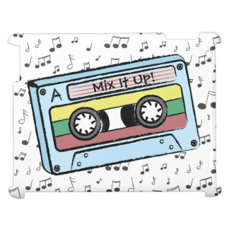 Cartoon Cassette Tape & Music Notes (Mix It Up) iPad Cases