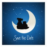 Cartoon Cat and Dog - Save the Date invitation