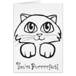 Cartoon Cat Card