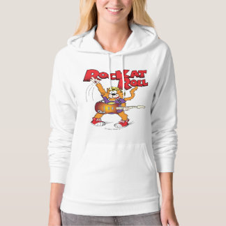 Cartoon Cat Character Rockin' Out Hoodie