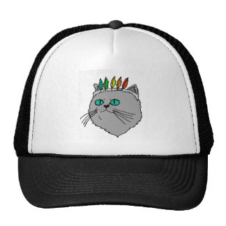 Cartoon Cat Cultural Headdress Trucker Hat
